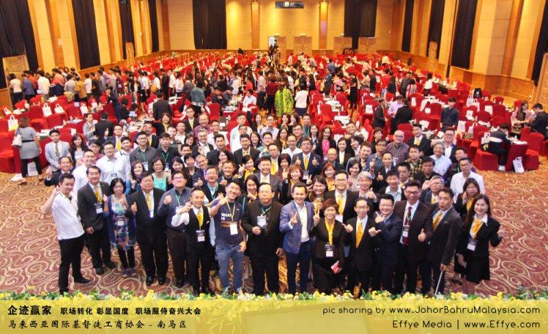 企迹赢家 职场转化 彰显国度 职场服侍奋兴大会 CBMC Malaysia Christian Business and Marketplace Cennection 马来西亚国际基督徒工商协会 大合照 Group Photo at Johor Bahru Malaysia A05