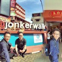 Walking at the Jonker Walk Melaka Malacca Malaysia