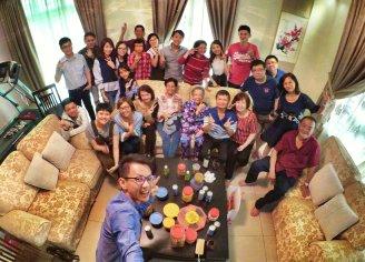 Raymond Ong Effye Ang Family Gathering at Melaka Malaysia Matthew Ong House Chinese New Year 2018 农历新春2018 家庭聚会 A005
