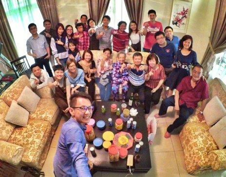 Raymond Ong Effye Ang Family Gathering at Melaka Malaysia Matthew Ong House Chinese New Year 2018 农历新春2018 家庭聚会 A006
